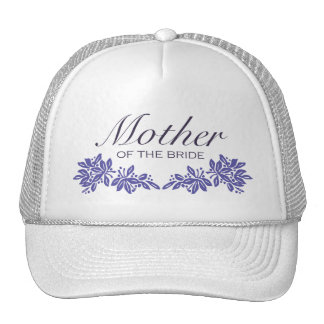 Stamped Floral Mother of the Brid Hats