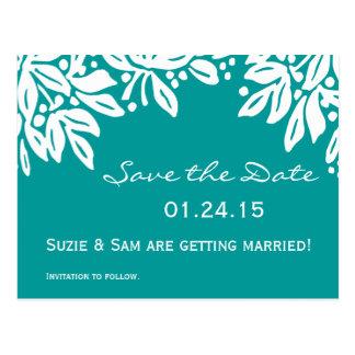 Stamped Floral Wedding Pattern Postcard