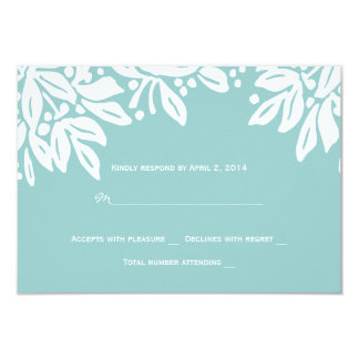 Stamped Floral Wedding White Invite