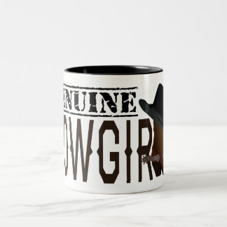 Stamped GENUINE Cowgirl with Boot & Hat Mug