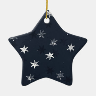 Stamped Star Ceramic Star Decoration