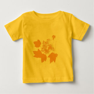 Stamped Yellow Maple Leaves Toddler T Shirts
