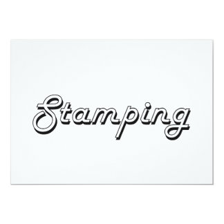 Stamping Classic Retro Design 13 Cm X 18 Cm Invitation Card