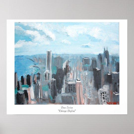"Stan Levine ""Chicago Skyline"" Poster"