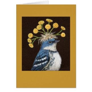 Stan the cerulean warbler card