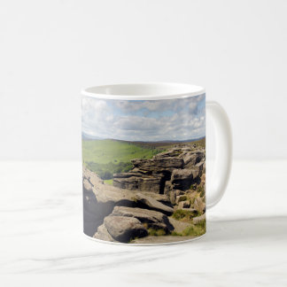 Stanage Edge in the Peak District souvenir photo Coffee Mug
