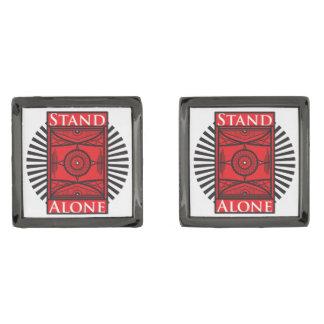 Stand Alone Gunmetal Finish Cufflinks