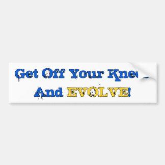 Stand And Evolve Bumper Sticker