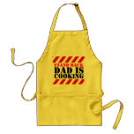 Stand back Dad is cooking graphic cooks apron