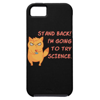 Stand Back Going To Try Science Cat Funny Kitten iPhone 5 Cases