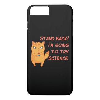 Stand Back Going To Try Science Cute Scientist Cat iPhone 8 Plus/7 Plus Case