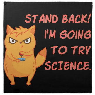 Stand Back Going To Try Science Cute Scientist Cat Napkin
