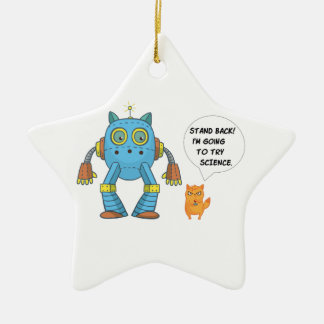 Stand Back Going To Try Science Funny Cat Christmas Ornament