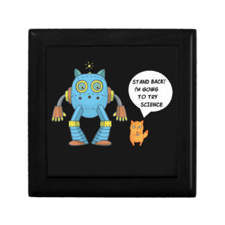 Stand Back Going To Try Science Funny Robot Cat Gift Box
