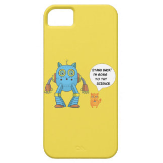 Stand Back Going To Try Science Funny Robot Cat iPhone 5 Cover