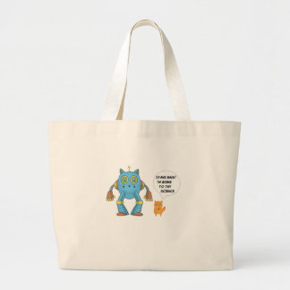 Stand Back Going To Try Science Funny Robot Cat Large Tote Bag