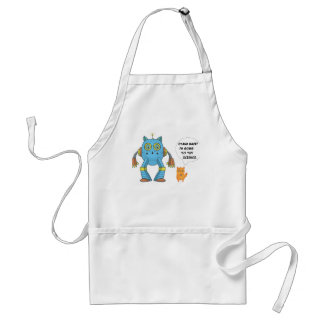 Stand Back Going To Try Science Funny Robot Cat Standard Apron