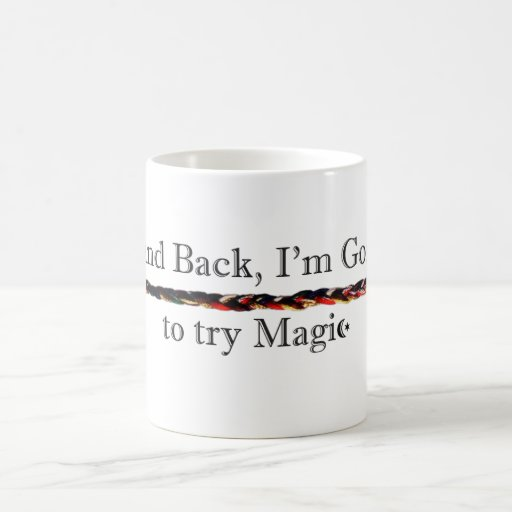 Stand Back Magic with cords Mug