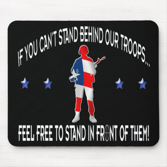 Stand Behind or In Front Mousepad