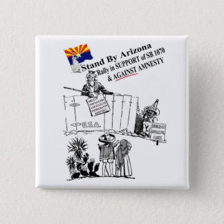 Stand By Arizona 15 Cm Square Badge