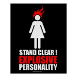 Stand clear! explosive personality poster