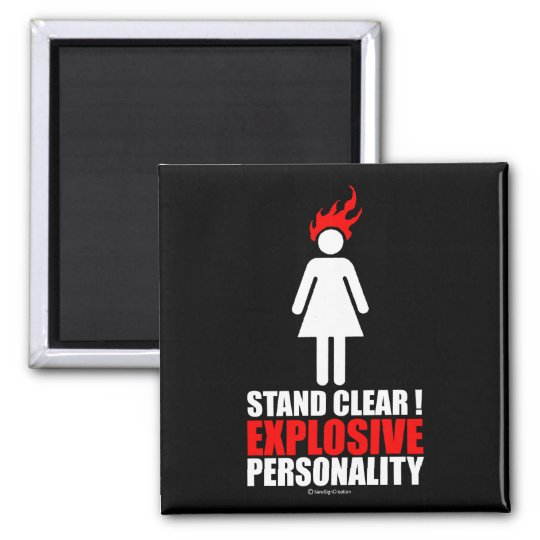 Stand clear! explosive personality square magnet