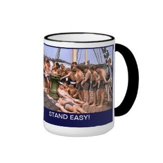 Stand EAsy on TS Arethusa Ringer Mug