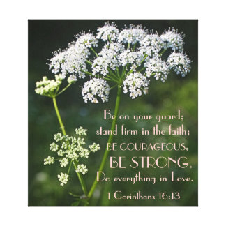 stand firm in faith bible verse canvas prints
