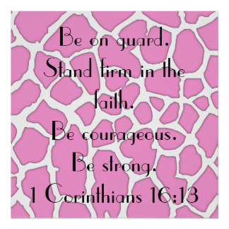 Stand firm in the faith bible verse poster