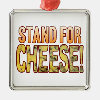 Stand For Blue Cheese Silver-Colored Square Decoration