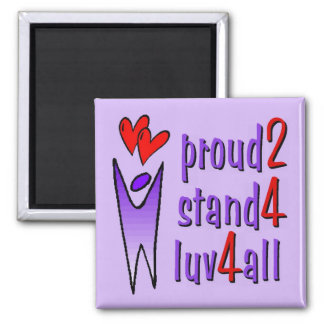 Stand For Love Magnet - Lavender