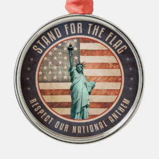 Stand For The Flag Christmas Ornament
