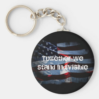Stand Indivisible Basic Round Button Key Ring