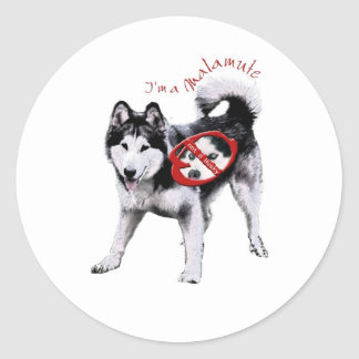Stand-Not a Husky Classic Round Sticker