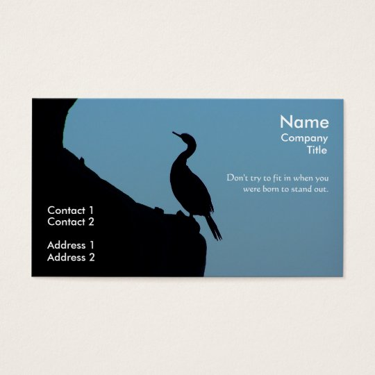 Stand Out Cormorant Business Card