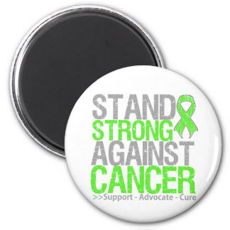 Stand Strong Against Non-Hodgkin's Lymphoma Cancer 6 Cm Round Magnet