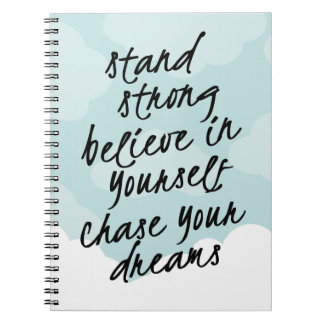 Stand Strong, Be Yourself Motivational Quote Notebook