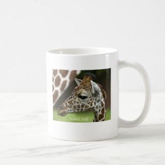 Stand Tall Giraffe Basic White Mug