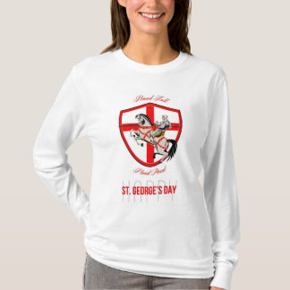Stand Tall Happy St George Day Retro Poster T-Shirt