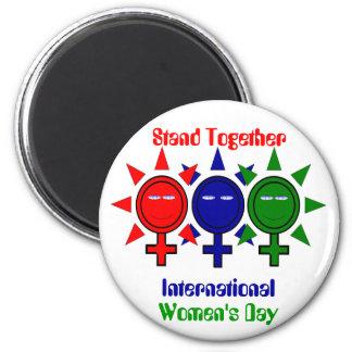 Stand Together International Women's 6 Cm Round Magnet