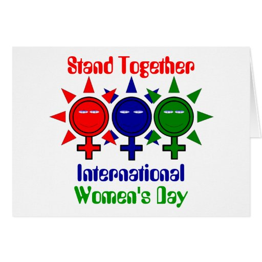Stand Together International Women's Day Greeting Cards