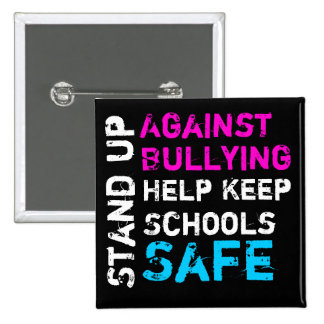 Stand Up Against Bullying Button (transgender) 2 Inch Square Button
