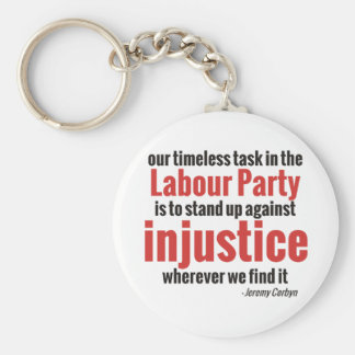 Stand up Against Injustice Basic Round Button Key Ring