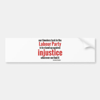 Stand up Against Injustice Bumper Sticker