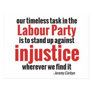 Stand up Against Injustice Postcard