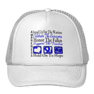 Stand Up Celebrate Honor Collage Anal Cancer Cap