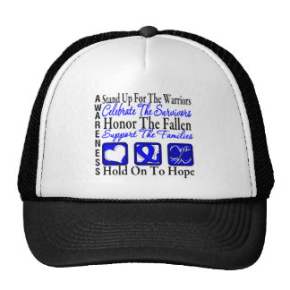 Stand Up Celebrate Honor Collage Anal Cancer Mesh Hat
