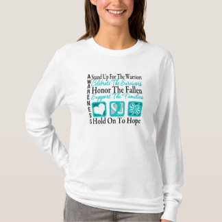 Stand Up Celebrate Honor Collage Cervical Cancer T-Shirt