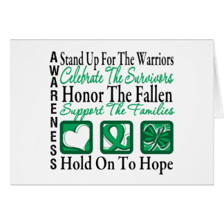 Stand Up Celebrate Honor Collage Liver Cancer Greeting Card