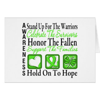 Stand Up Celebrate Honor Non-Hodgkins Lymphoma Greeting Card